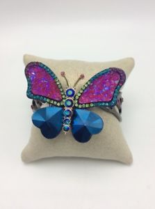 【送料無料】ブレスレット アクセサリ― ドルジョンソンヒンジカフブレスレット95 betsey johnson butterfly dreams pave crystals hinge cuff bracelet f1