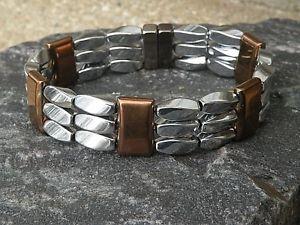 【送料無料】ブレスレット アクセサリ― ヒーリングブレスレットmens womens 100 silver copper magnetic healing bracelet anklet 3 row therapy