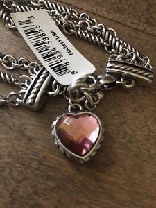 【送料無料】ブレスレット アクセサリ― ブライトンニューポートクリスタルハートピンクブレスレットbrighton nwt port crystal heart pink bracelet