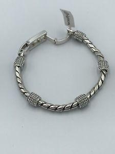 【送料無料】ブレスレット アクセサリ― ブライトンシルバークリスタルブレスレットbrighton silver and crystal bracelet nwtag