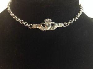 【送料無料】ブレスレット アクセサリ― 925 スターリングアイルランドcladdaghケルトブレスレット10925 sterling silver irish claddagh celtic knot bracelet 10 inch fine