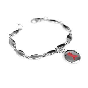 【送料無料】ブレスレット アクセサリ― カスタムブレスレットスチールmyiddr custom engraved red awareness bracelet 316l steel