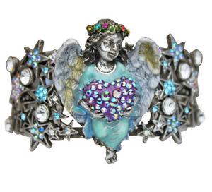 【送料無料】ブレスレット アクセサリ― kirks folly celestial angel heart cuff bracelet silvertonekirks folly celestial angel heart cuff bracelet silvertone
