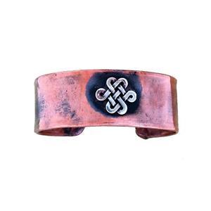 【送料無料】ブレスレット アクセサリ― アメリカ1カフスブレスレットケルトrustic 1 wide solid copper cuff bracelet celtic tribal design made in usa