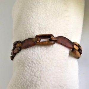 【送料無料】ブレスレット アクセサリ― ユニークチェーンリンクブレスレットunique wood magnetic clasp chain linked bracelet
