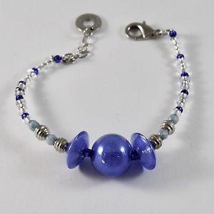 【送料無料】ブレスレット アクセサリ― muranoグラスディスクantica murrina veneziaantica murrina venezia bracelet with murano glass discs blue spheres