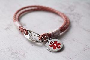 【送料無料】ブレスレット アクセサリ― ブレスレットidメッセージladies medical alert bracelet medical id bracelet engraved with any message