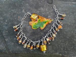 【送料無料】ブレスレット アクセサリ― autumn goldescharm bracelet 1autumn gold hand made uk charm bracelet by s by e  limited edition 1