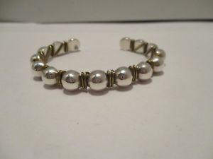 【送料無料】ブレスレット アクセサリ― カフビーズスターリングシルバーワイヤラップブレスレットcuff silpada beaded sterling silver brass wire wrap 925 bracelet 5 12 in long