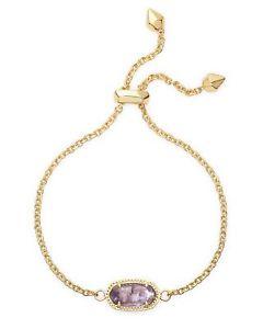 【送料無料】ブレスレット アクセサリ― スコットアメジストゴールドメッキチェーンブレスレットkendra scott elaina chain bracelet in amethyst and gold plated