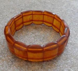 【送料無料】ブレスレット アクセサリ― ビンテージブレスレットロシアオレンジソ#vintage bracelet with russian original amber ussr 1940 105152
