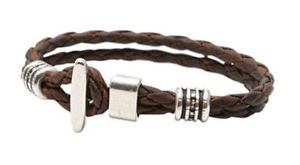 【送料無料】ブレスレット アクセサリ― トリノバーブレスレットtorino leather co mens genuine braided leather silver plated tbar bracelet
