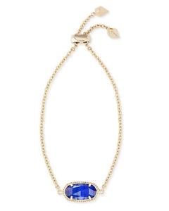 【送料無料】ブレスレット アクセサリ― コバルトケンドラスコットelainaチェーンブレスレットkendra scott elaina oval chain bracelet in cobalt and gold plated