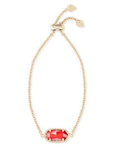 【送料無料】ブレスレット アクセサリ― ゴールドケンドラスコットelainaチェーンブレスレットkendra scott elaina oval chain bracelet in red and gold plated