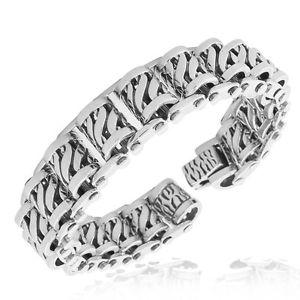 【送料無料】ブレスレット アクセサリ― ステンレススチールリンクブレスレットstainless steel silvertone heavy mens link bracelet