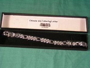 【送料無料】ブレスレット アクセサリ― スターリングチェーンブレスレットchinese 925 [ sterling ] heavy silver curb chain bracelet