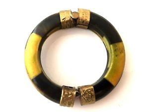 【送料無料】ブレスレット アクセサリ― ヴィンテージdorevintage bracelet ethnic metal dore and bovine horn