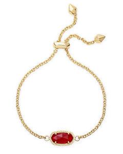 【送料無料】ブレスレット アクセサリ― スコットレッドゴールドメッキチェーンブレスレットkendra scott elaina chain bracelet in red and gold plated