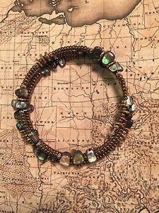 【送料無料】ブレスレット アクセサリ― silpada b1706アワビシェルスターリングsilpada b1706 abalone shell stretch bracelet sterling silver