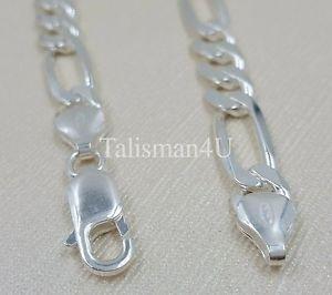 solid 925 sterling silver mens figaro chain bracelet 85 8mm italy heavy リアルソリッドスターリングシルバーメンズフィガロチェーンブレスレットイタリアreal アクセサリ― ブレスレット 【送料無料】
