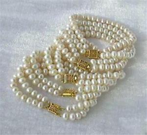 【送料無料】ブレスレット アクセサリ― アコヤブレスレット whole 10 pc 78mm white akoya cultured pearl bracelet 75 aaa
