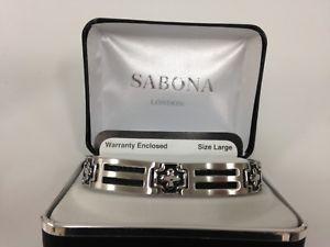 【送料無料】ブレスレット アクセサリ― sabona 37075クロスケーブルブレスレットsabona 37075 cross cable stainless magnetic bracelet