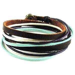 【送料無料】ブレスレット アクセサリ― ロープブレスレットcoollaカフスsl2284 soft leather multicolour ropes women bracelet wrap cuff sl2284 by coolla