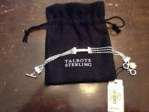 【送料無料】ブレスレット アクセサリ― タルボッツスターリングブレスレットtalbots sterling silver bracelet