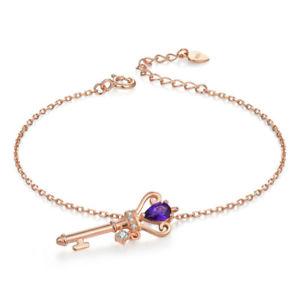 【送料無料】ブレスレット アクセサリ― スターリングシルバーローズゴールドロイヤルキーブレスレット925 sterling silver 18ct rose gold plated royal key bracelet