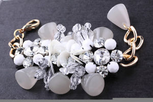 【送料無料】ブレスレット アクセサリ― デザイナーグレービーズスパンコールゴールドチェーンブレスレットamazing designer marni grey beads amp; sequins gold chain runway couture bracelet