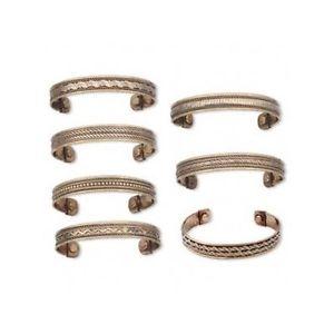 【送料無料】ブレスレット アクセサリ― ロット10magneticブレスレットカフスlot 10 copper magnetic bracelet cuff with magnet inserts for arthritis therapy