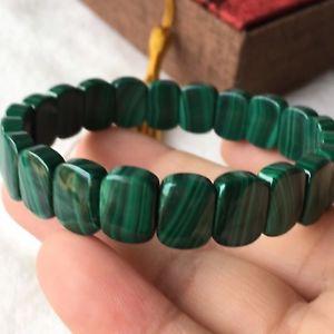 【送料無料】ブレスレット アクセサリ― マラカイトブレスレット12*8*4mm genuine natural green malachite gemstone bracelet aaaa