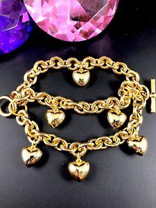 【送料無料】ブレスレット アクセサリ― fabulous joan rivers glossy goldtone3link strand puffy heart charm braceletfabulous joan rivers glossy goldtone 3 link str