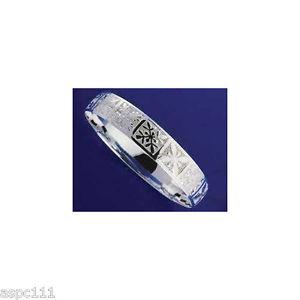 【送料無料】ブレスレット アクセサリ― argento 925 hawaiano bracciale rigido trapunta bordi lisci10mmargento 925 hawaiano bracciale rigido trapunta bordi lisci 1