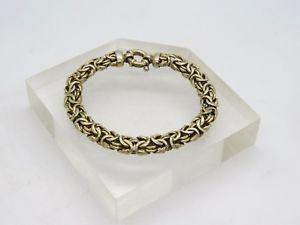 【送料無料】ブレスレット アクセサリ― スターリングシルバービザンチンリンクブレスレットgold over 925 sterling silver 86mm wide byzantine weave link 75 bracelet e