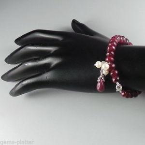 【送料無料】ブレスレット アクセサリ― カジュアルパーティファッションルビーブレスレットrondelle ruby bracelet with pearl hanging fashion for women evening casual party