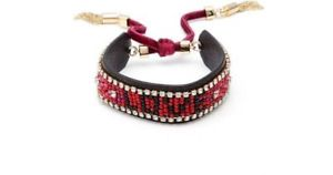【送料無料】ブレスレット アクセサリ― レベッカシードビーズブレスレットレッドrebecca mink seed bead love leather bracelet red brand  free shipping