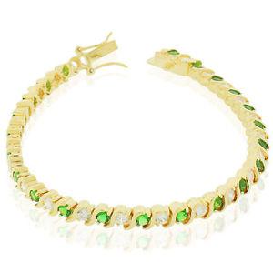 【送料無料】ブレスレット アクセサリ― スターリングシルバークリアラウンドリンクテニスブレスレット925 sterling silver clear green emeraldtone round cz slink tennis bracelet, 7