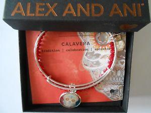 【送料無料】ブレスレット アクセサリ― アレックスシルバーブレスレットalex and ani calavera ii art infusion bracelets set of 2 shiny silver nwtbc 2017