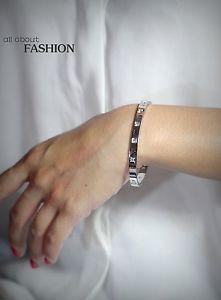 【送料無料】ブレスレット アクセサリ― シルバーブレスレットステンレススチールローマクリスタルウェディングsilver bracelet stainless steel ouverable roman numeral crystal wedding tr1
