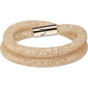 【送料無料】ブレスレット アクセサリ― スワロフスキースターダストダブルゴールドラップブレスレットクリップボックスswarovski stardust double wrap gold bracelet, s clip 100 authentic boxed