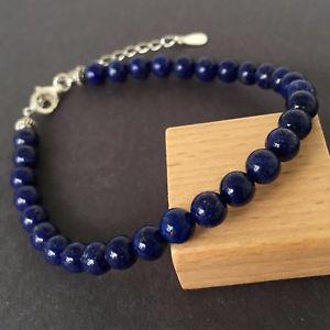 【送料無料】ブレスレット アクセサリ― ブレスレットmmラピスラズリスターリングシルバークラスプzen bracelet 6mm natural lapis lazuli 925 sterling silver clasp