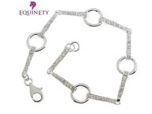【送料無料】ブレスレット アクセサリ― equinety sparkly czスターリングブレスレットヴァレンタインequinety sparkly cz sterling silver snaffle bracelet equestrian valentines gift