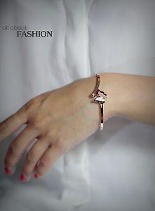 【送料無料】ブレスレット アクセサリ― ローズゴールドブレスレットステンレススチールクリスタルrose gold bracelet stainless steel crystal butterfly ouverable wedding tr1