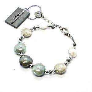 【送料無料】ブレスレット アクセサリ― muranoグラスbr817a06antica murrina veneziaantica murrina venezia bracelet with murano glass silver and grey br817a06