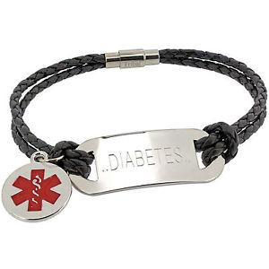 【送料無料】ブレスレット アクセサリ― ブレスレットメッセージvarious colours life saving medical alert sos id leather bracelet any message