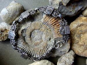 【送料無料】ブレスレット アクセサリ― ビンテージホワイトメタルブルターニュフランスブレスレットコートvintage white metal bracelet souvenir coat of arms brittany france