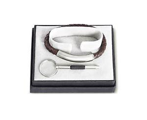【送料無料】ブレスレット アクセサリ― ジョスフォンアークスブラウンレザーブレスレットステンレススチールjos von arx brown leather bracelet with plain stainless steel feature cob02