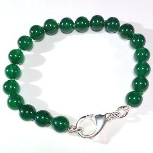 【送料無料】ブレスレット アクセサリ― ブレスレットシルバーハンドメイドwomens green agate bracelet silver 925 handmade b54