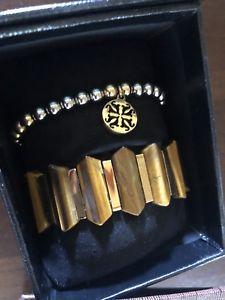 【送料無料】ブレスレット アクセサリ― ボックスカフキャッツアイブレスレットビーズブランドbrand in box rustic cuff tigers eye stretchy bracelets beaded never worn